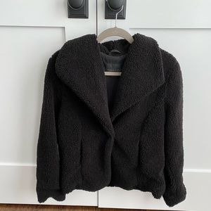 Sanctuary Black Teddy Coat Medium